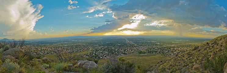 panoramic view of Albuquerque