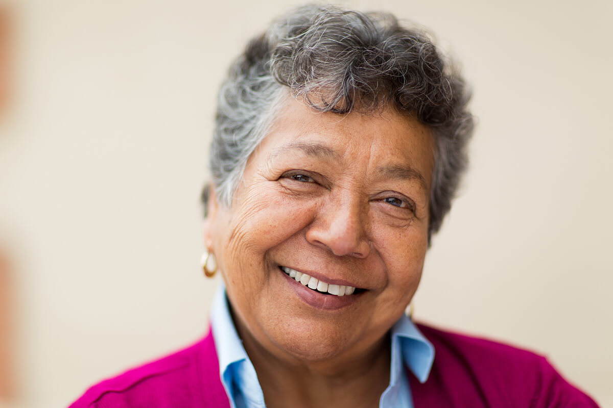 headshot of smiling older woman
