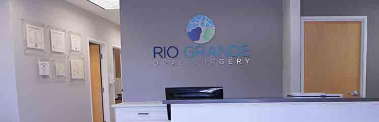 reception desk at Rio Grande Oral Surgery